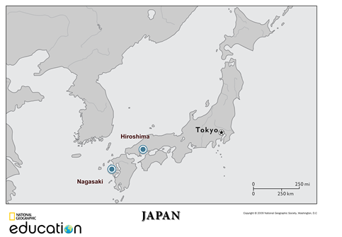 Hiroshima Map Of Japan.Voice Library Acquires Oral Histories Of Atomic Bomb Survivors Msu