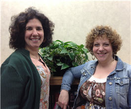 From left, Rachel Minkin and Sara Miller