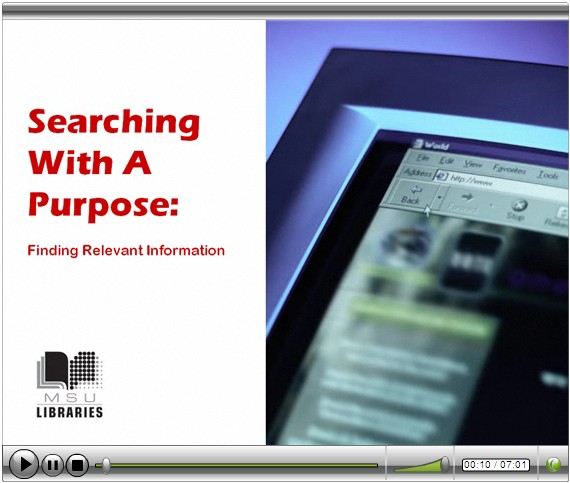 Searching With A Purpose Video Tutorial