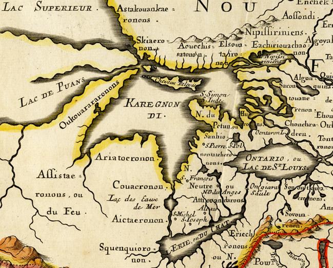 Detail of Nicolas Sanson's Canada, ou Nouvelle France